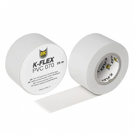 Лента K-FLEX 025-025 PVC AT 070 white